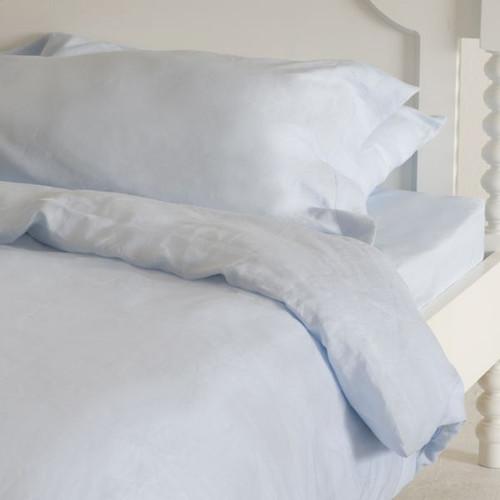 Sky Blue Italian Linen Sheets