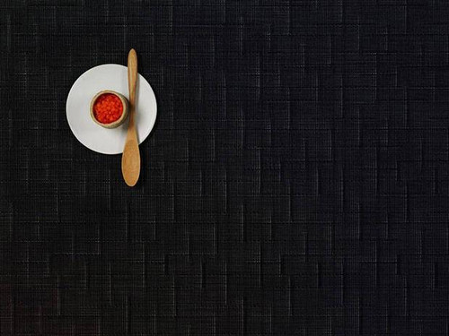 Chilewich Bamboo Rectangular Placemat - Jet Black