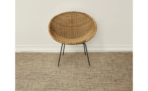 Basketweave Woven Floor Mat by Chilewich   Bark