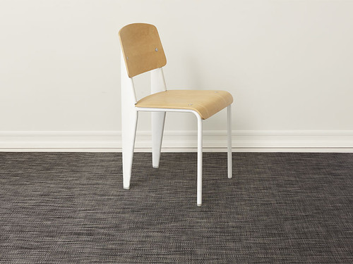 Basketweave Woven Floor Mat by Chilewich   Carbon