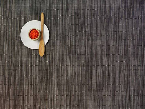 Chilewich Bamboo Rectangular Placemat - Grey Flannel