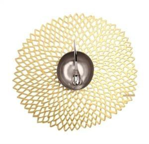 Pressed Dahlia Placemat Champagne