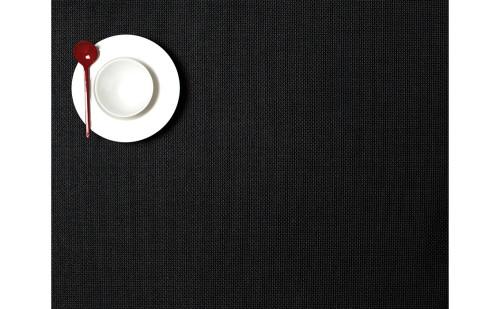 Mini Basketweave Compact Rectangular Placemat - Black