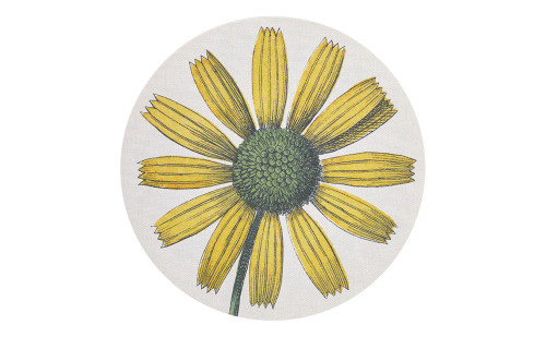 John Derian/Chilewich Yellow Daisy Round Placemat