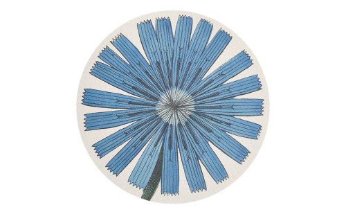 John Derian/Chilewich Blue Chicory Round Placemat