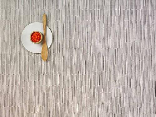 Chilewich Bamboo Rectangular Placemat - Chalk