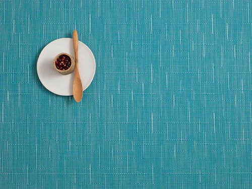 Chilewich Bamboo Rectangular Placemat -Teal