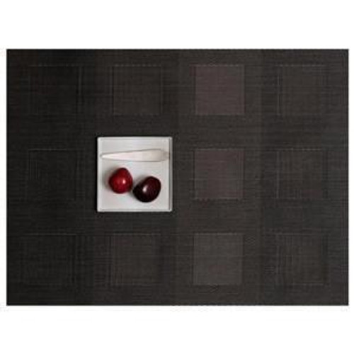 CHILEWICH Engineered Squares Placemats S/4   Steel