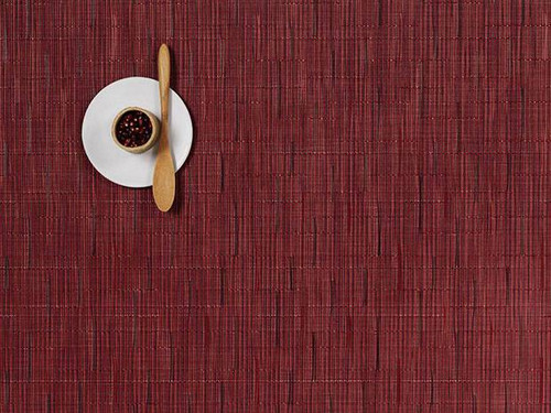 Chilewich Bamboo Rectangular Placemat - Cranberry
