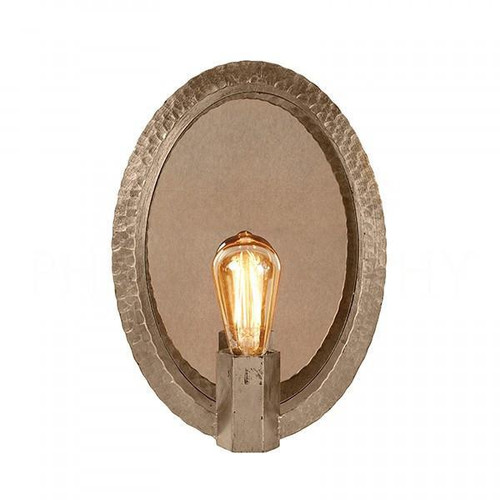 Aidan Gray Oval Hammered Sconce in Nickel
