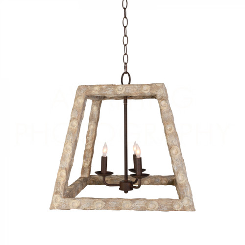 Oyster Stick Tapered Square Chandelier by Aidan Gray
