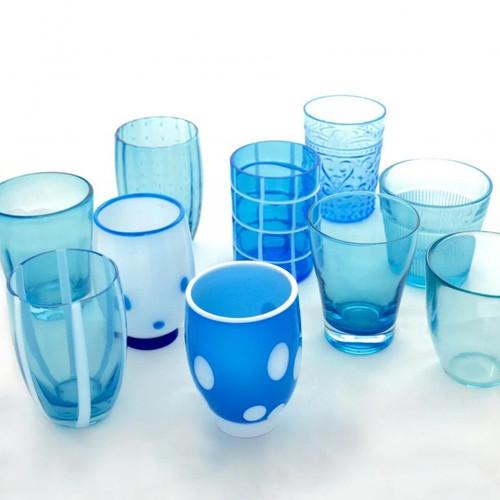 Melting Pot Tumblers (Set of 6)   Aquamarine