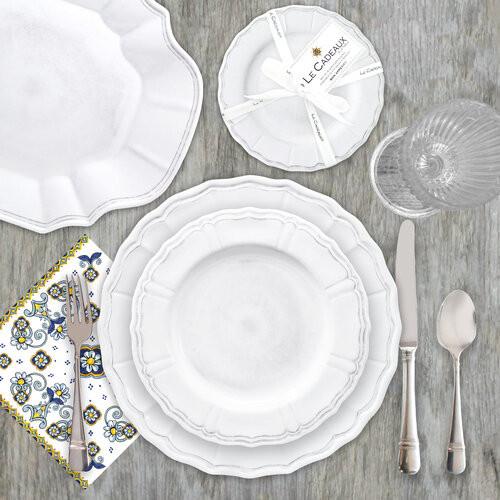 Terra Melamine Dinner Collection | White