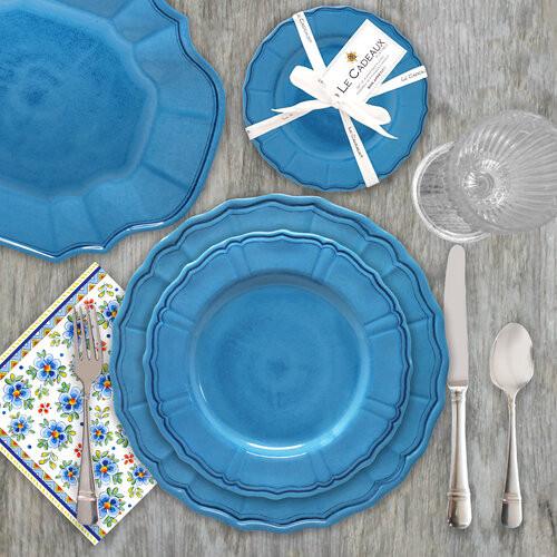 Terra Melamine Dinner Collection | Blue