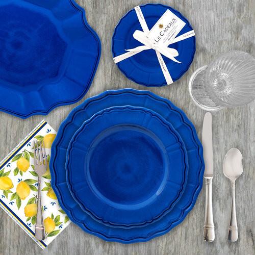 Terra Melamine Dinner Collection | Dark Blue