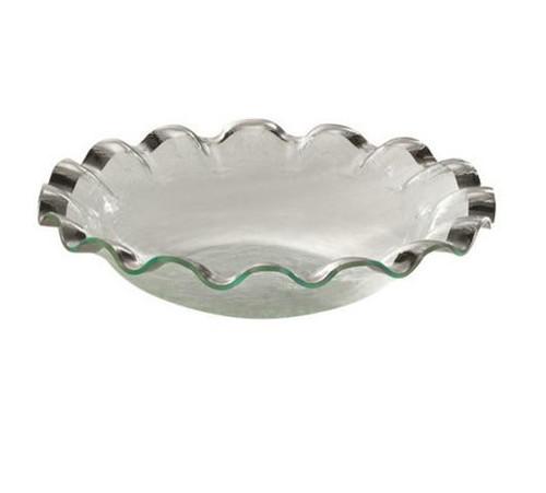 Annieglass Ruffle Series Large Salad Bowl