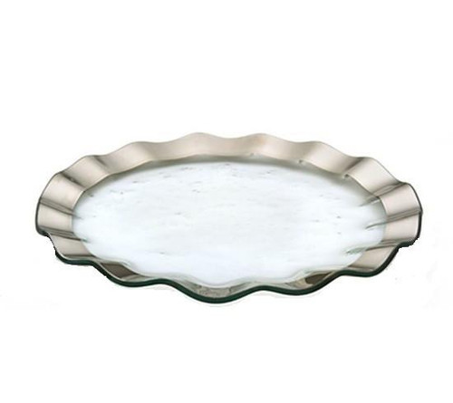 Annieglass Ruffle Buffet Plate