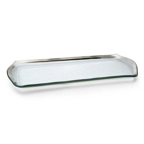 Annieglass Roman Antique Oblong Pastry Tray