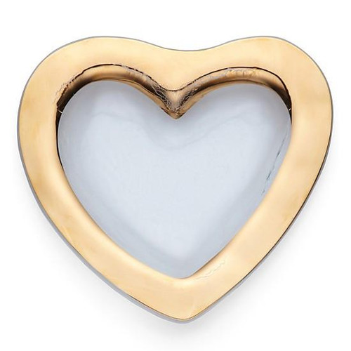 "Annieglass Roman Antique 8"" Heart Bowl"
