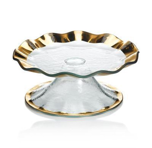 Annieglass Ruffle Petit Four Stand  | Gold