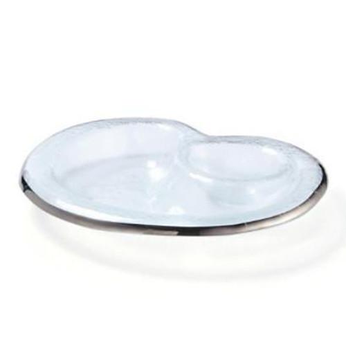 Annieglass Roman Antique Chip & Dip Bowl