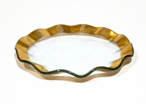 ANNIEGLASS Ruffle Salad/Dessert Plate
