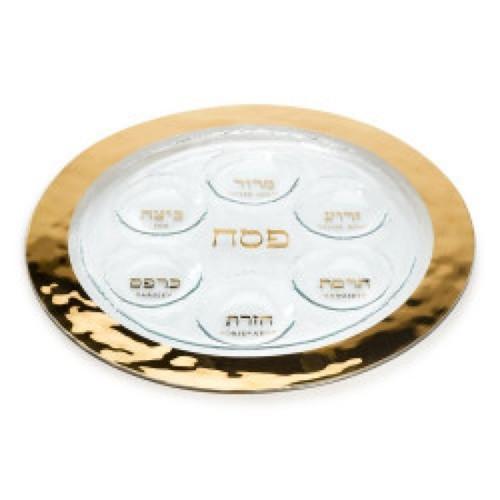Annieglass Judaica Seder Plate | Gold