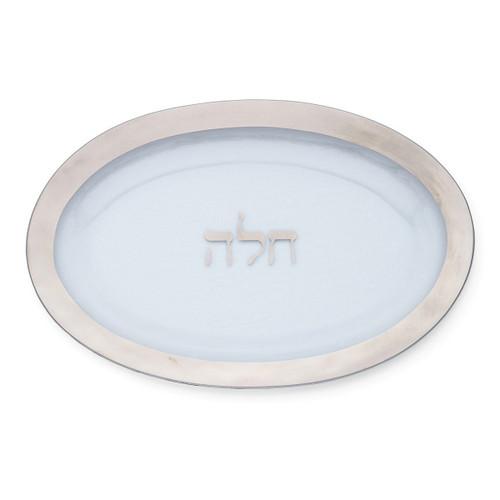 Annieglass Judaica Challah Plate | Platinum