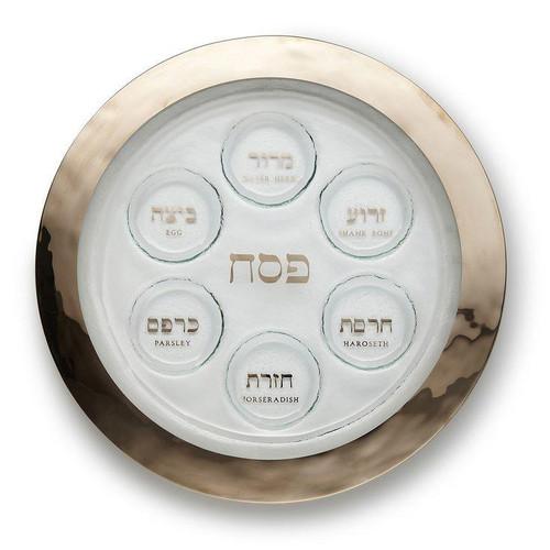 Annieglass Judaica Seder Plate | Platinum