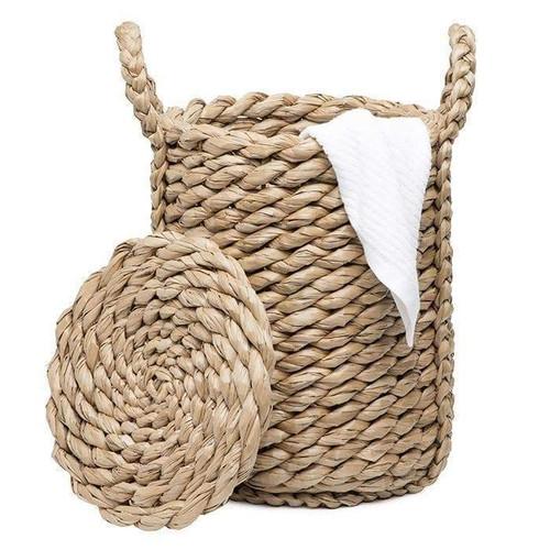 Royan Round Woven Seagrass Handled Basket