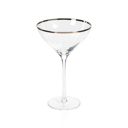 Grand Coupe Champagne Glass with Platinum Rim by Zodax
