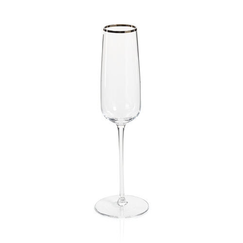 London Champagne Flute with Platinum Rim by Zodax