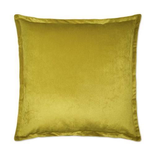 Belvedere Flange Velvet Pillow - Curry