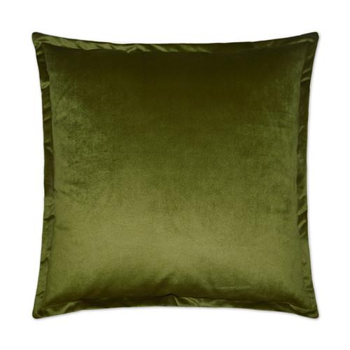 Belvedere Flange Velvet Pillow - Aloe
