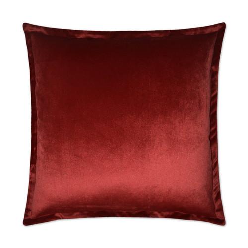 Belvedere Flange Velvet Pillow -Sangria