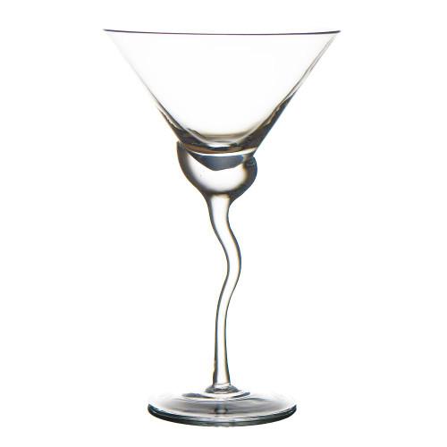 Martini Glass w/ Wave Stem, Set of 4
