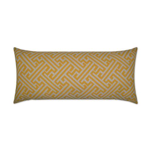 Amazed Lumbar-Yellow Pillow