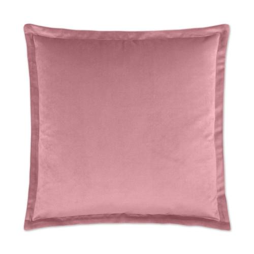 Belvedere Flange Velvet Pillow - Orchid