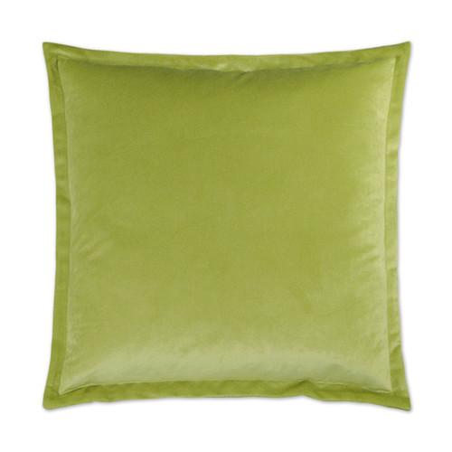 Belvedere Flange Velvet Pillow - Lime