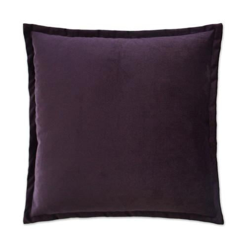 Belvedere Flange Velvet Pillow - Amethyst