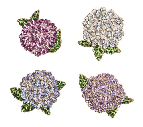 Hydrangea Drink Coasters, S/4 in Gift Bag