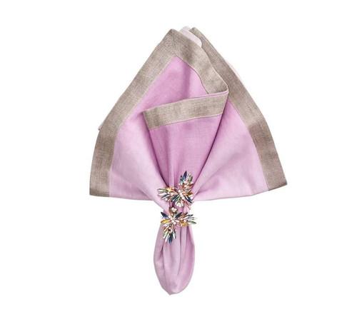 Dip Dye Napkin in Lilac, Set of 4