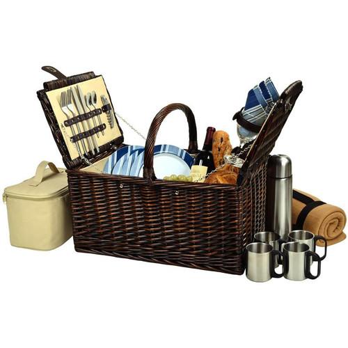 Buckingham Basket for 4 w/Blkt & Coffee