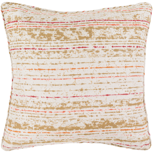 Arie Outdoor Acrylic Pillow in Orange + Coral by Surya