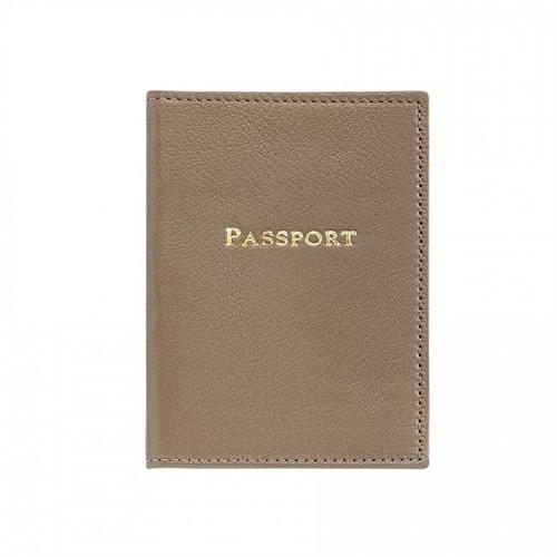 Taupe Passport Holder