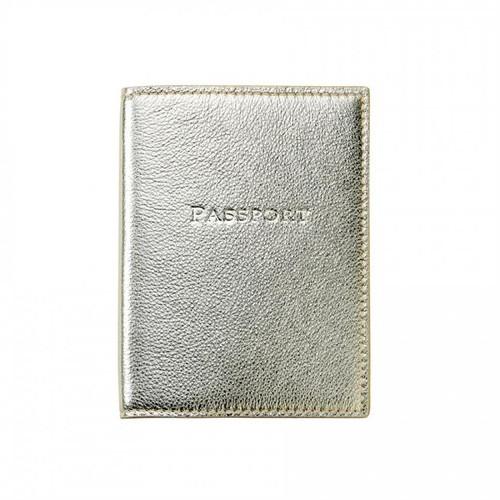 Passport Holder   White Gold