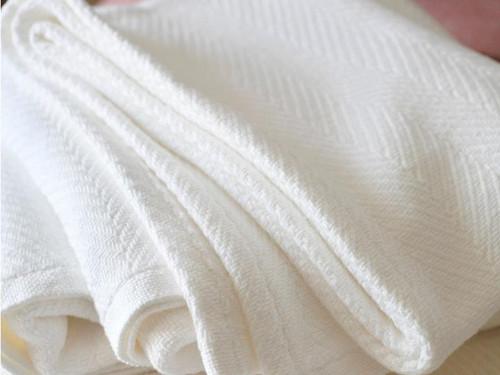 Madison Cotton Blanket | White