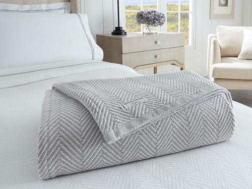 Madison Cotton Blanket | Dove Grey
