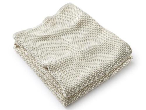 Harmony Cotton Blanket | Ecru