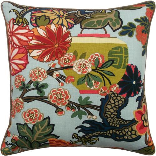 Chiang Dragon Pillow | Aquamarine